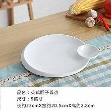 GYCZC Chinesisches Geschirr Knödel Gericht Mit