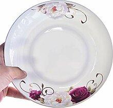 GYCZC Keramik Geschirr Teller Porzellan 8 Zoll