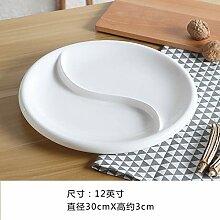 GYCZC Pure White Western Dish Keramik Französisch