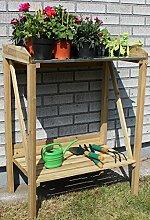 GYD Garden Holzpflanztisch für Garten Terrasse Balkon, 70 x 45 x 90 cm