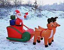 GYD Weihnachtsmann mit Schlitten Rentierschlitten