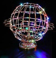 GYDD WeinglaHalter, LED Rotierenden Globus