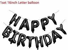 GYFC 16 Zoll Silber Buchstaben Ballons Alles Gute