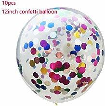 GYFC 3 Stücke Rose Gold Konfetti Luftballons