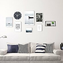 GYH Wand-Bilderrahmen, Foto Wand mit Uhren