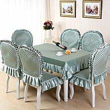 GYJZ Haushaltstischdecke Tischdecken rutschen waschbar Tuch Stuhl Kissen Pad 7 europäischen Hülse , B , 130*180