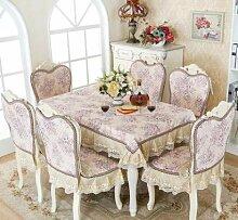 GYJZ Kaffeetischtuch Tischtuch Tischdecke Stuhl Kissen Stuhl Sitzbezug-Sets , B , 150*200