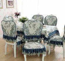 GYJZ Tischdecke Spitze Tischdecken Stuhlhussen Stühle Stuhlmatte Sets , D