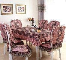GYJZ Tischdecke Spitze Tischdecken Stuhlhussen Stühle Stuhlmatte Sets , B