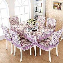 GYJZ Tischdecken Kombination Stuhl Stuhl Polsterbezüge Sätze von Tischen und Stühlen , D , 130*180