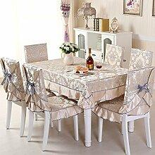 GYJZ Tuchtischdecken Wohnmöbel Suite Gartenstuhl Kissen Stuhl setzt 7 Sätze , A