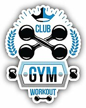 Gym Workout Emblem - Self-Adhesive Sticker Car