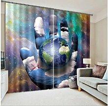 GYMNLJY 3D City View Home Dekoration Vorhang