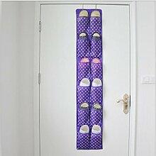 GYMNLJY Garderobe Taschen Kleeblatt Lagerung Kleiderschrank Taschen kann gewaschen Multi-Funktions-Taschen (2 Stück) , purple