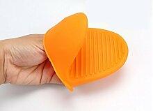 GYMNLJY Silica-Gel Backen Werkzeuge vermeiden Sie Wärme Isolierung Topflappen Bügeln isolierenden Clip (4-er Pack) , orange