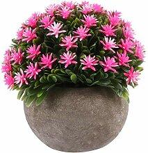 Gymqian Künstliche Pflanze Topf Mini Fake Pflanze