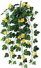 Gymqian Künstliche Pflanzen Morgen Glory Hängen