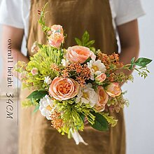 Gymqian Künstlicher Hortensie Blumenstrauß