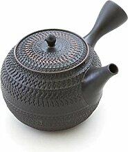 Gyokko Japanische Tee-Kanne Tokoname Ton, 500 ml,
