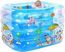 GYP Aufblasbarer Anti-Rutsch-Pool für Baby Travel 3 Farben - 2 Größen erhältlich (Farbe : A, größe : 115*95*75cm)