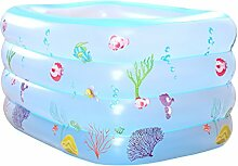 GYP Badewannen-Baby-Swimmingpool-Kleinkinder und kleine Kinder aufblasbarer Swimmingpool-Verdickung Baby-Swimmingpool-Swimmingpool-Isolierung (Farbe : A, größe : 140*100*70CM)