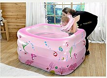GYP Badewannen-Baby-Swimmingpool-Kleinkinder und kleine Kinder aufblasbarer Swimmingpool-Verdickung Baby-Swimmingpool-Swimmingpool-Isolierung (Farbe : B, größe : 140*100*70CM)