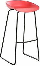 GYP Bar Chairs, Round Hocker High Hocker Dining Chair Eisen Stuhl Höhe 87cm moderner Stil kaufen ( Farbe : #4 )