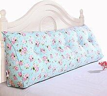 GYP Bedside Printing Fancy Kissen Kissen Kissen Bett Zurück Soft Case Triangle Große Rückenlehne Sofa Schlafzimmer Rückenlehne Kissen Lendenwirbel Rücken Pad kaufen ( Farbe : #4 , größe : 120*50*20CM )