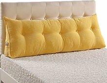 GYP Bedside Sofa Kissen Lendenwirbel Kissen Soft Case Taille Pad Rückenlehne Bett Stoff Kissen Core Waschbare Taille Kissen schützen den Hals kaufen ( Farbe : #2 , größe : 120*22*50CM )