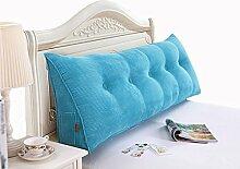 GYP Bedside Solid Color Kissen Kissen Kissen Bett Zurück Soft Case Triangle Große Rückenlehne Sofa Schlafzimmer Rückenlehne Kissen Lendenwirbel Rücken Pad kaufen ( Farbe : #2 , größe : 50*50*20CM )
