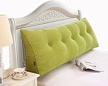 GYP Bedside Solid Color Kissen Kissen Lendenwirbel Rücken Pad Kissen Bett Zurück Soft Case Triangle Große Rückenlehne Sofa Schlafzimmer Rückenlehne Kissen kaufen ( Farbe : #4 , größe : 120*50*20CM )
