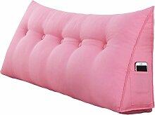GYP Bedside Triangle Kissen Dimensional Sofa Rückenlehne Solid Color schützen die Taille Kissen Büro Back Pad Lendenwirbel weichen Fall Taille Auflage Bett Stoff Kissen Core waschbar Taille Kissen Hals Kissen kaufen ( Farbe : #2 , größe : 120*50*20CM )