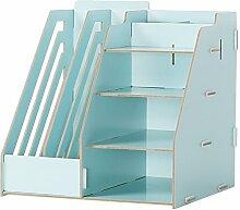 GYP Büro Multifunktions-Schreibtisch-Aufbewahrungsbehälter-Büro-Versorgungsmaterialien Regal-Akten-Regal-Beenden-Regal Regal kaufen ( Farbe : Blau )