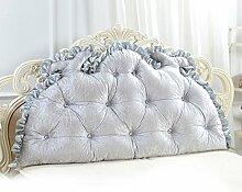GYP Double Large Bedside Dreieck Kissen, Haushalt Kissen Taille Rücken Kissen Sofa Rückenlehne Büro Bett Soft Pack, Solid Color Neckguard Taille Schutz 120-150cm kaufen ( Farbe : #4 , größe : 120*75CM )