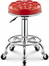GYP Drehbare runde Hocker Bar Stuhl Lifting Bar Hocker, High Hocker Schönheit Hocker Bar Stuhl Coffee Shop Friseur sitzen Hocker Schönheit Stuhl Mobile Store Business Counter Stuhl 47-59cm kaufen ( Farbe : #1 )