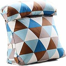 GYP Dreieck Kissen, Bett Kopf Kissen Büro Taille Das Bett zurück Kissen Neckguard Kissen Sofa Kissen Rückenlehne Geometrie Muster 45-60cm kaufen ( Farbe : #4 , größe : 60*20*50cm )