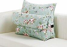 GYP Dreieck Kissen Bett Sofa Französisch Fenster Große Kissen Rückenlehne Tournure Das Bett Weiche Rolle Bürostuhl Kissen Waschbar 45-60cm kaufen ( Farbe : #2 , größe : 45*22*50CM )