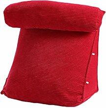 GYP Dreieck Kissen Sofa Rückenlehne Stuhl Dorm Zimmer Kissen Nachttisch Kissen Waschen und Waschen Bett Supplies Büro Hals Kissen Lunch Break Lendenwirbel Rücken Pad kaufen ( Farbe : #6 , größe : 45*40*22CM )