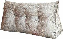 GYP Dreieck schräge Rückenlehne Sofa Kissen Kissen Schlafsaal Zimmer Nachttisch Rückenlehne waschbar Bett Lieferungen Lendenwirbel Büro Hals Kissen Mittagspause Taille Kissen kaufen ( Farbe : #1 , größe : 80*25*50CM )