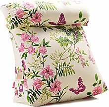 GYP Drucken Blumen-Dreieck-Sofa-Kissen, Büro-Taille Das Bett-Rückseiten-Kissen Das Bett-Kissen-Rückenlehne Neckguard-Kissen-Taillen-Schutz 45-60cm kaufen ( Farbe : #2 , größe : 45*20*45CM )