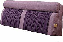 GYP Einfache doppelte Bedside Kissen große Rückenlehne weiche Fall Bett Abdeckung Kissen Stoff Sofa waschbare Lendenwirbel Rücken Pad Mat Kissen kaufen ( Farbe : #2 , größe : 120*60CM )