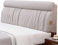 GYP Einfache Nachttisch Kissen Große Rückenlehne Doppel 120 * 60CM, 150 * 60CM Weiche Fall Bett Abdeckung Kissen Stoff Sofa Waschbare Lendenwirbelsäule Rücken Auflage Matte Kissen kaufen ( Farbe : #4 , größe : 120*60CM )