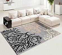 GYP Einfache Pastoral Wohnzimmer Teppich Sofa Couchtisch Nachtrechteckige Schlafzimmer Teppich ( Farbe : A , größe : 80*115CM )