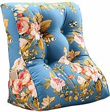 GYP Fancy Triangle Sofa Bedside Kissen Rückenlehne Schützen Sie den Hals schützen die Taille Bett Kissen waschbar Office Soft Case Home Lendenwirbel Schlafzimmer Erwachsene Back Pad Taille Kissen Wohnzimmer Kissen kaufen ( Farbe : #4 , größe : 45*30*55CM )