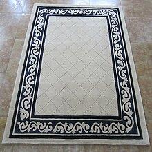 GYP Handmade Thick Teppich Wohnzimmer Schlafzimmer Teppich Wolle Teppich ( Farbe : A , größe : 160*230CM )