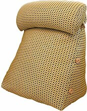 GYP Kopf Kissen Dreieck Breathable Sofa Kissen, Schlafzimmer Nachttisch Sofa Kissen Taille Wache Kissen Taille Pad Büro Taille Kissen Rückenlehne Schwangere Kissen Bett Pad 40-60cm kaufen ( Farbe : #4 , größe : 45*22*80CM )