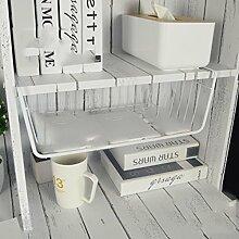 GYP Kreative Studentenwohnheim Artifact Bedside Regal Schlafsaal Nacht hängendes Bett Korb Regal Schreibtisch Artifact kaufen ( Farbe : Weiß )