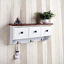 GYP Massivholz-Racks, Schindel-Aufbewahrungsregal Rack-Aufbewahrungsregale Kleiderständer Schrankwände Holz Einfache 60 * 24 * 14cm kaufen ( Farbe : #4 )