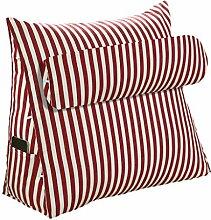 GYP Multifunktionskissen Sofa Kissen Dreieck Bedside 45 * 45 * 20CM, 60 * 50 * 20CM Büro Lendenwirbel Rücken Pad Bett Kissen Sofa Taille Pad Rückenlehne kaufen ( Farbe : Rot , größe : 45*45*20CM )