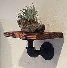 GYP Regal, Kleine Blumenregale Industrial LOFT Iron Pipe Wand Schindel Mining Wind Wand Massivholz 20cm * 20cm * 3 / 5cm kaufen ( größe : 5cm )